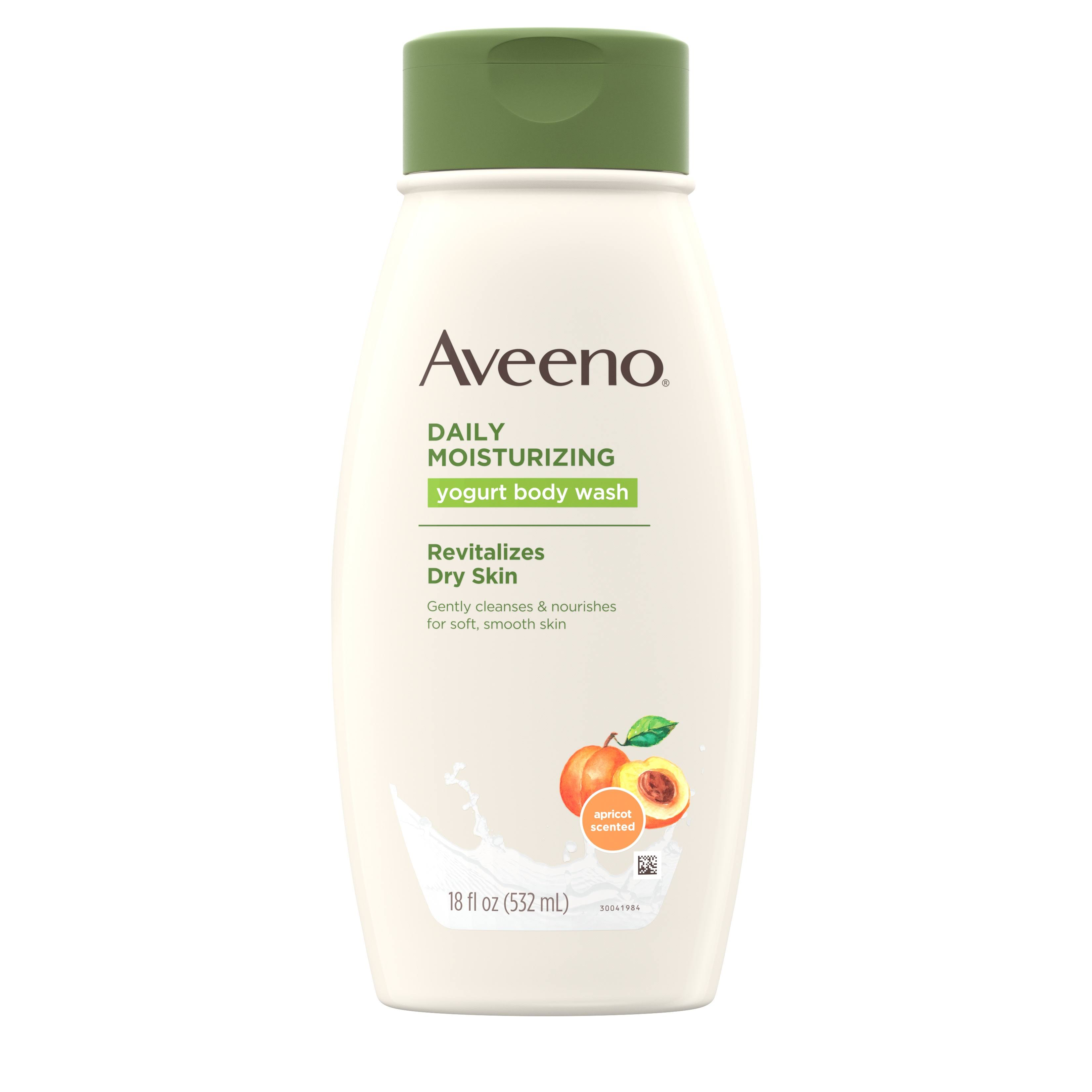 Aveeno Active Naturals Daily Moisturizing Yogurt Body Wash - Apricot and Honey, 18oz
