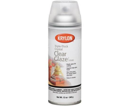 Krylon Triple Thick Clear Glaze Aerosol Spray - 12oz