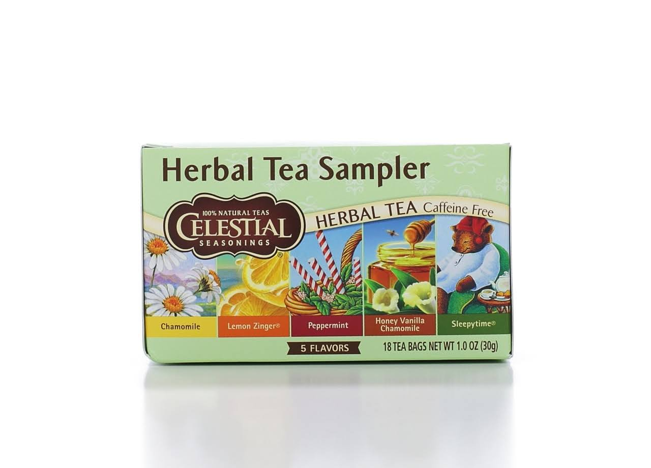 Celestial Seasonings Herbal Tea Sampler - 5 Flavors