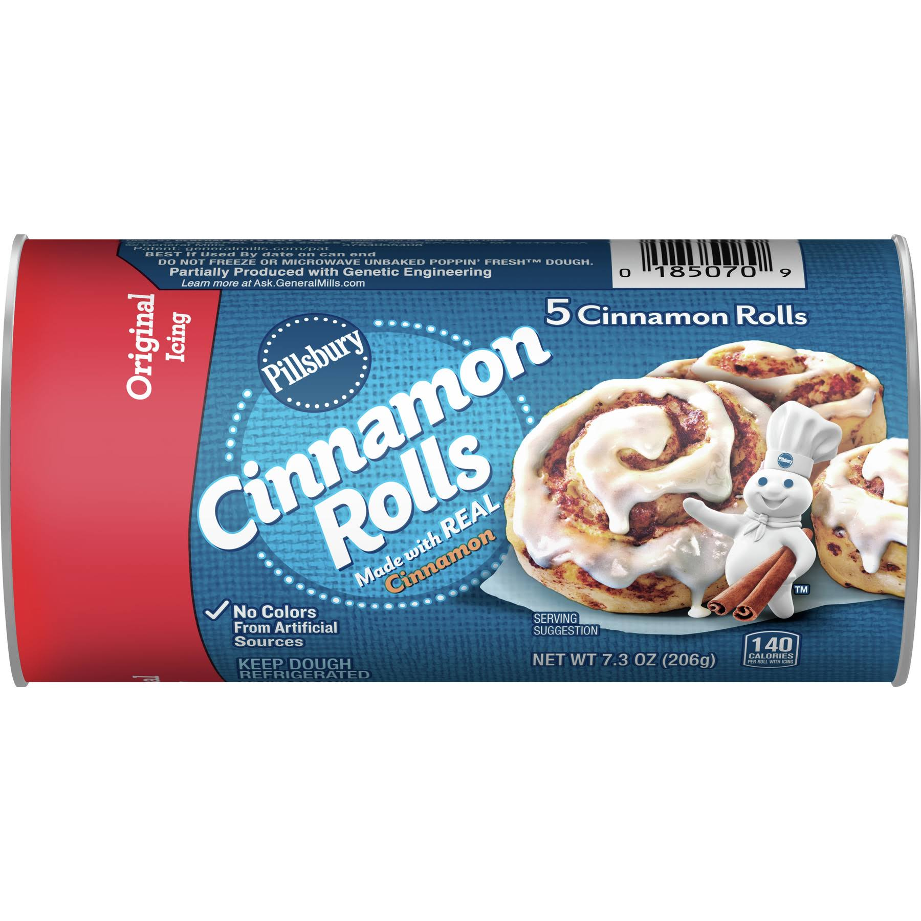 Pillsbury Original Icing Cinnamon Rolls - 5ct, 7.3oz