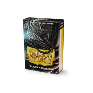 Dragon Shield: Classic Japanese Size Card Sleeves - 60ct, Black