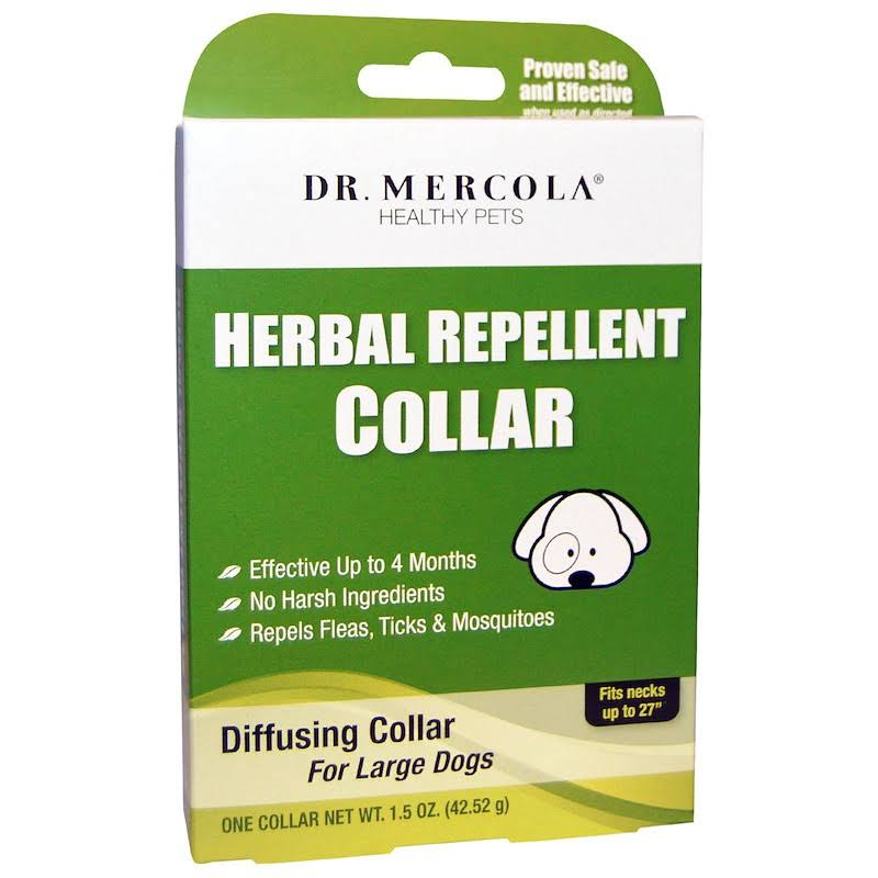 Dr. Mercola Herbal Repellent Collar - For Large Dogs, One Collar, 1.5oz