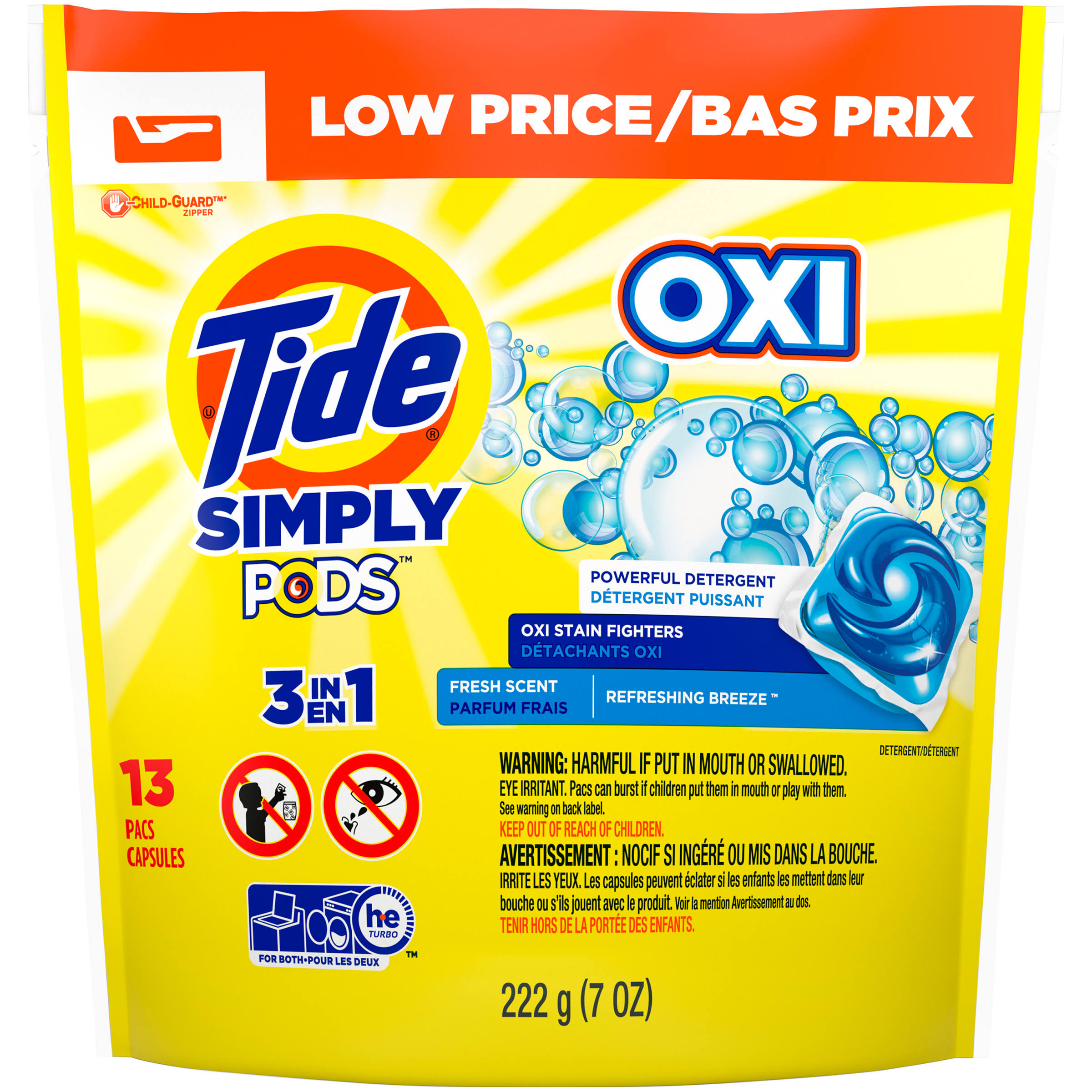 Tide Simply Clean & Fresh Laundry Detergent Pads - 13ct