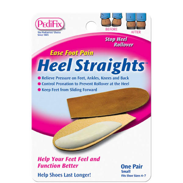 Pedifix Heel Straights - Large, 1 Pair