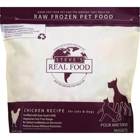 Steve's Real Food Chicken Patty Raw Frozen Dog Food, 13.5 lb