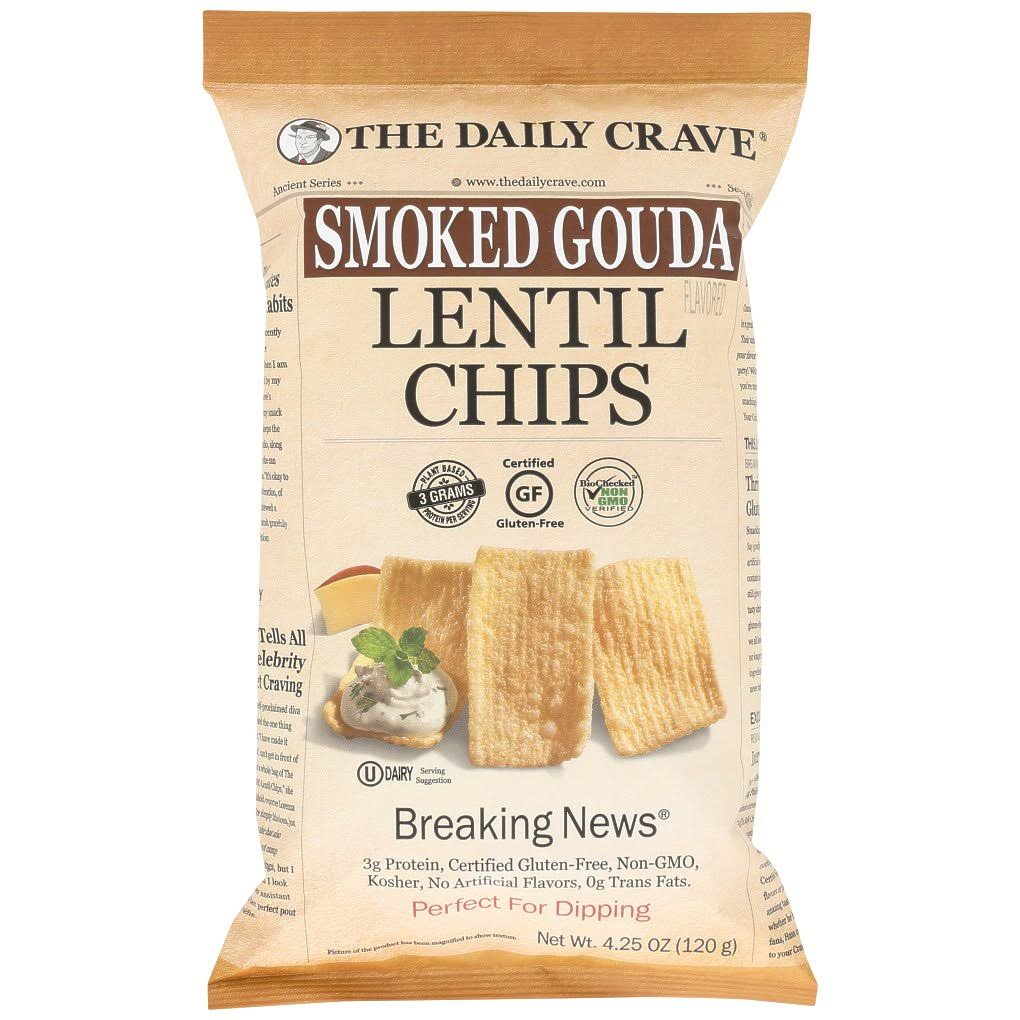 The Daily Crave KHFM00328301 Chips Lentil Smoked Gouda 4.25 oz