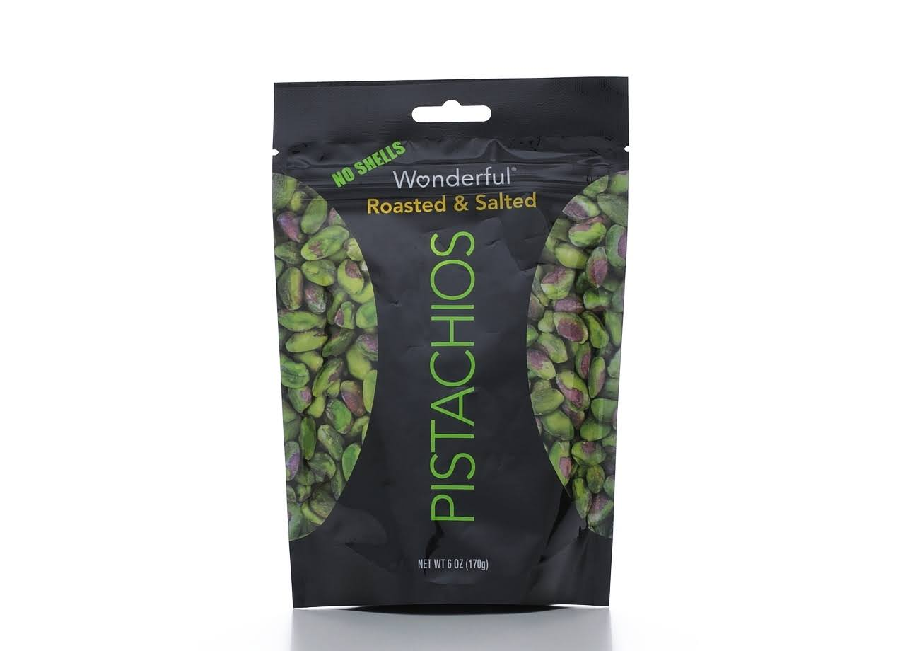 Wonderful Pistachios - Roasted and Salted, 6oz