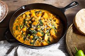 Thai Green Pumpkin Curry Recipe by Chickpea And Butternut Squash Curry Vikalinka