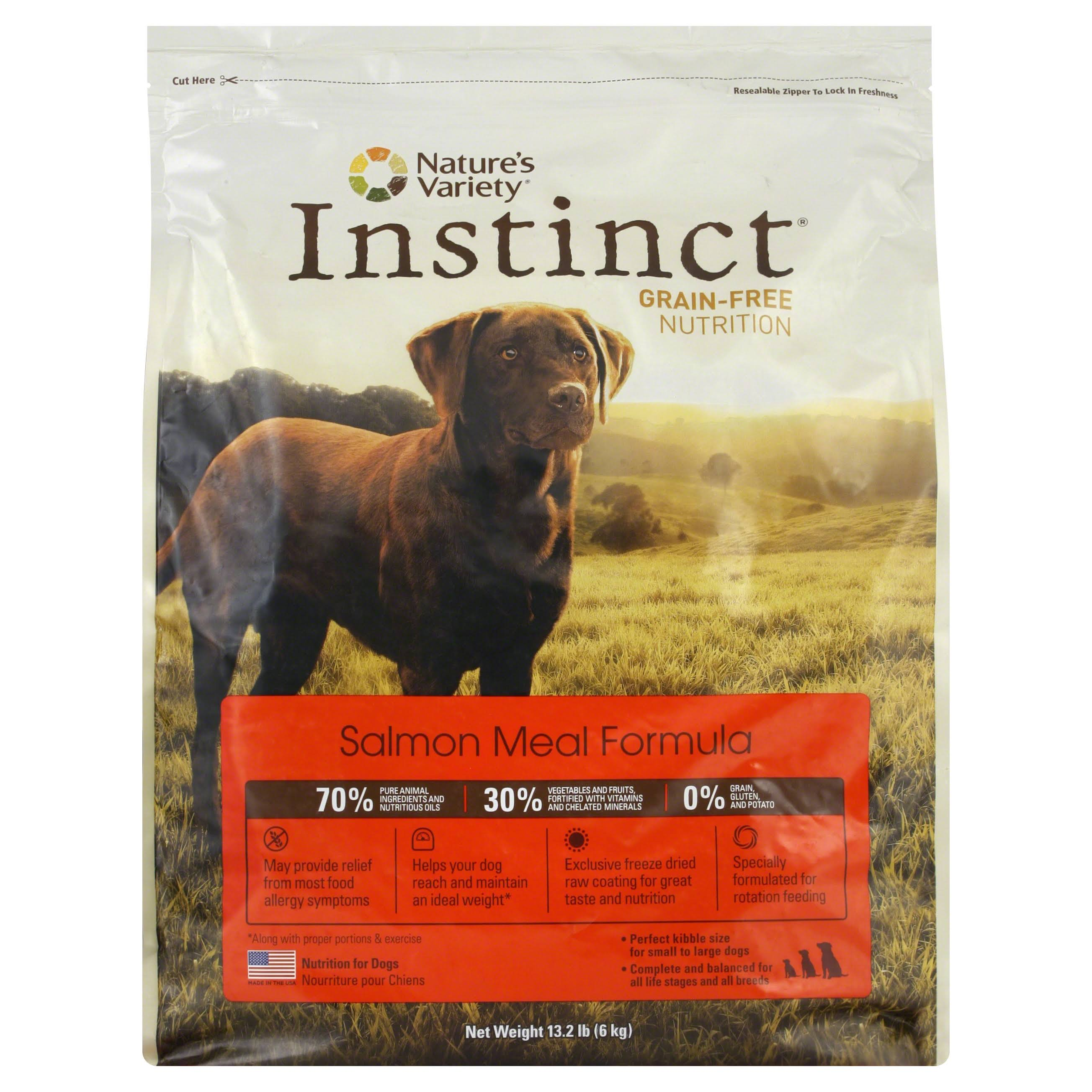 Nature's Variety Instinct Grain-Free Dry Dog Food - Salmon Meal, 13.2lb