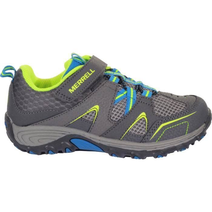 Merrell Trail Chaser Kids Walking Shoes - Grey Blue Citron