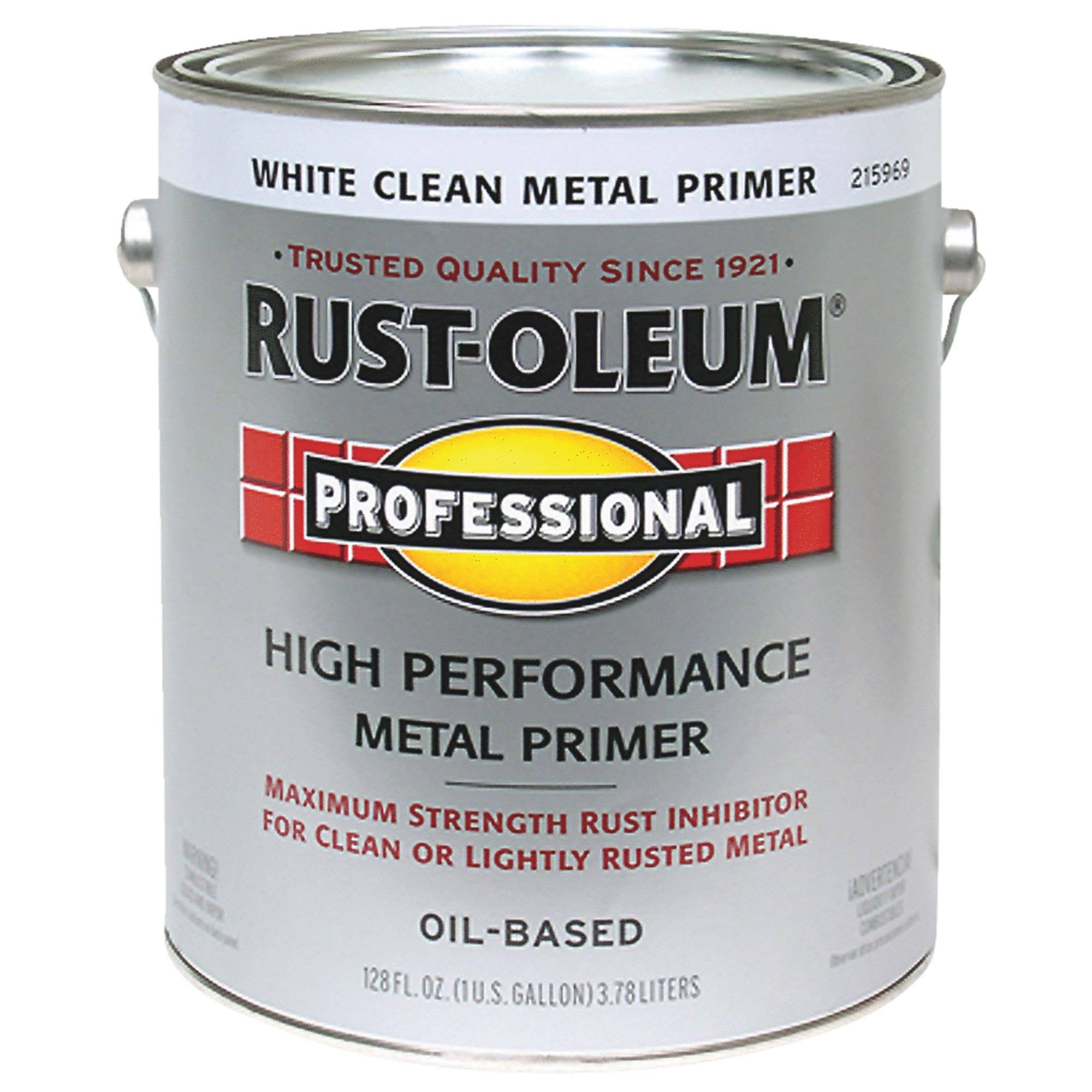 Rustoleum White Clean Professional Oil Based Metal Primer - 3.78L