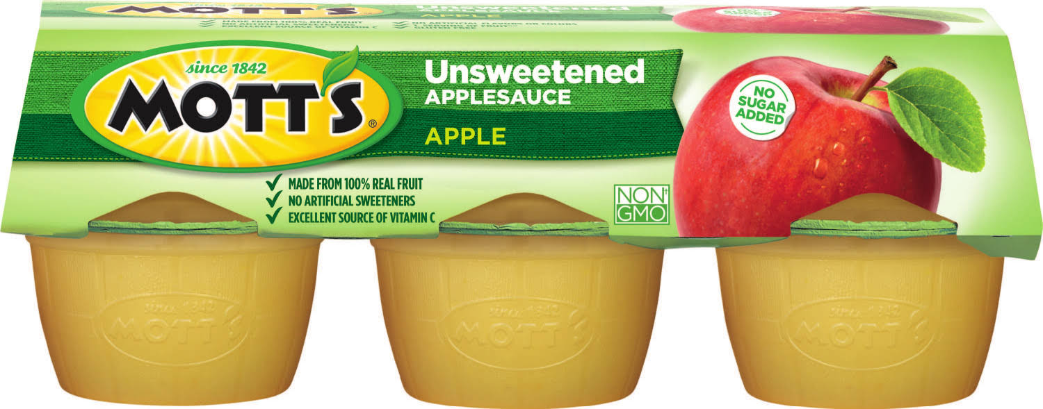 Mott's Applesauce - Unsweetened, 6 Pack