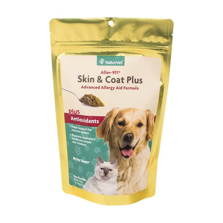 NaturVet Allergy Skin & Coat Allergy Aid Powder For Pets - 9 oz