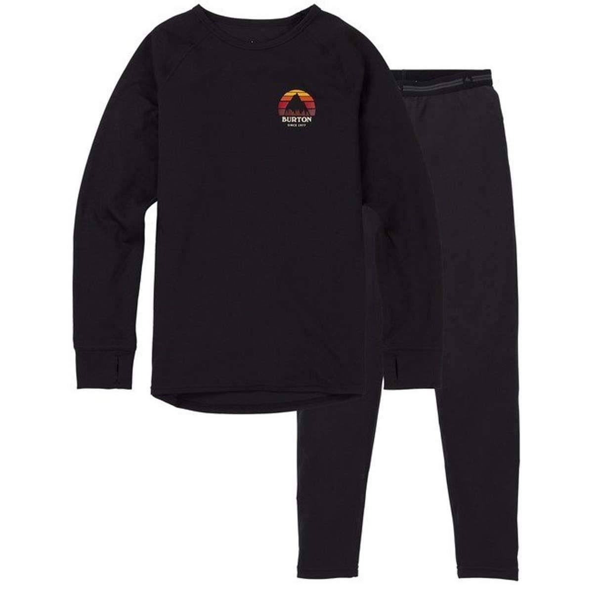 Burton Boy's Lightweight Baselayer Set - True Black, X Small