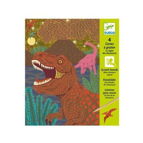When Dinosaurs Reigned Scratch Cards by Djeco