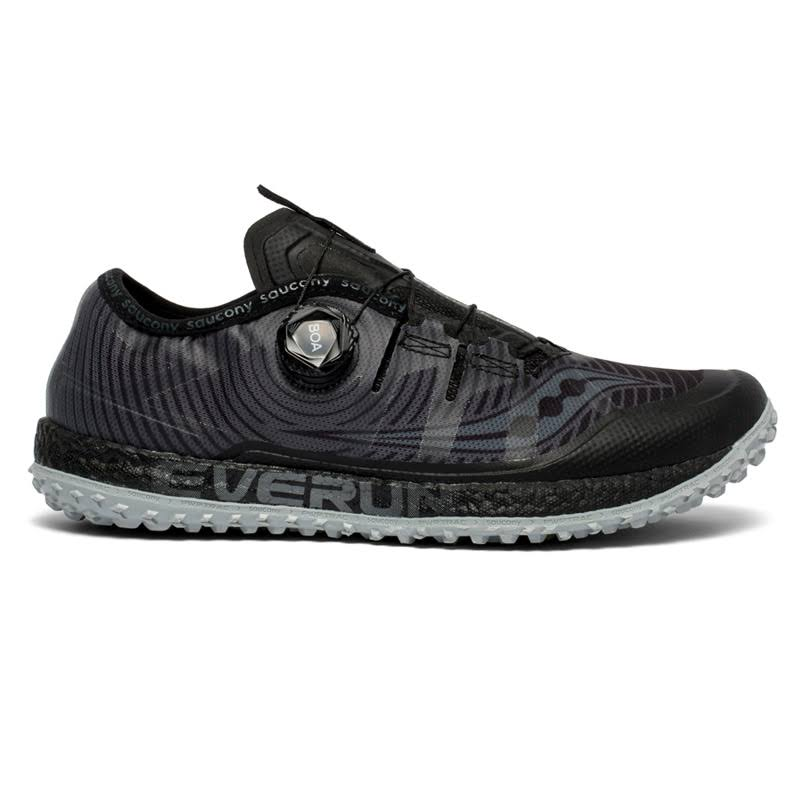 Saucony Switchback ISO Trail Running Shoes - Black/Gray, Size 9.5
