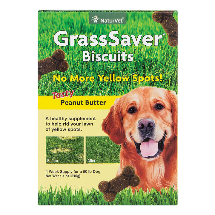 NaturVet GrassSaver Dog Biscuits - 11oz