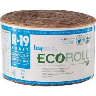 "Eco Roll Fiberglass Insulation Roll - 15"" x 39.16'"
