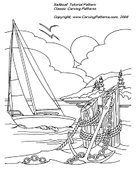 sailboat relief wood carving project for beginners by l s irish
