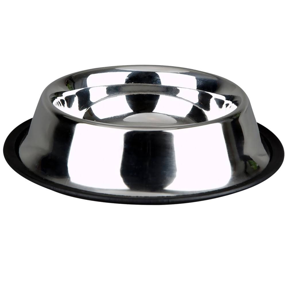 Advanced Pet Products Non-skid Dish - Stainless Steel, 8oz