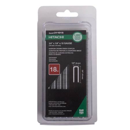 Hitachi 21101S 18-Gauge 1/4 in. x 3/4 in. Electro Galvanized Finish Staples (1,000-Pack)