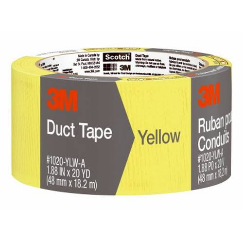 "3M Scotch Yellow Multi Purpose Waterproof Backing Duct Tape - 2"" x 20yd"