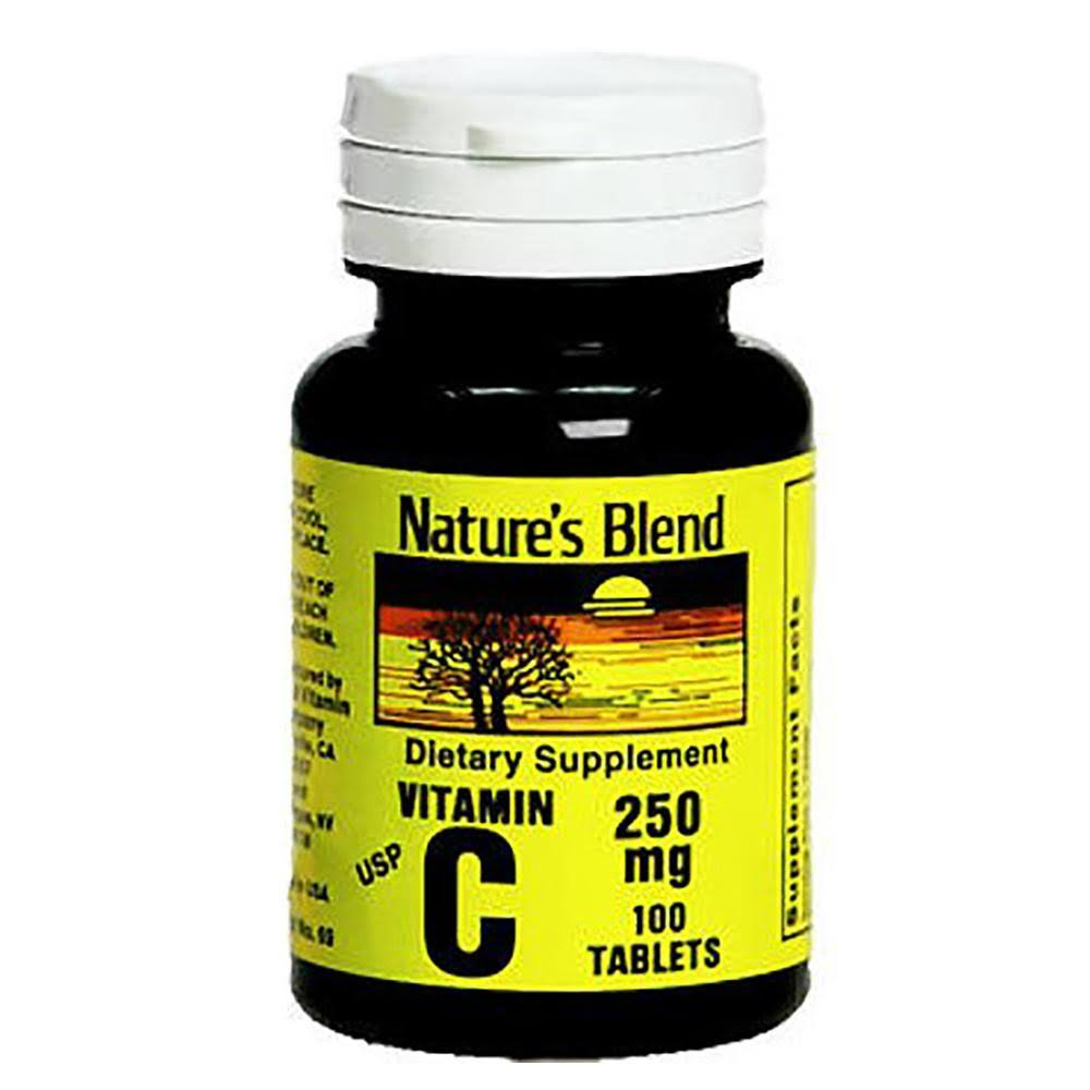 Natures Blend Tablet Supplement - Vitamin C, 250 mg, 100ct