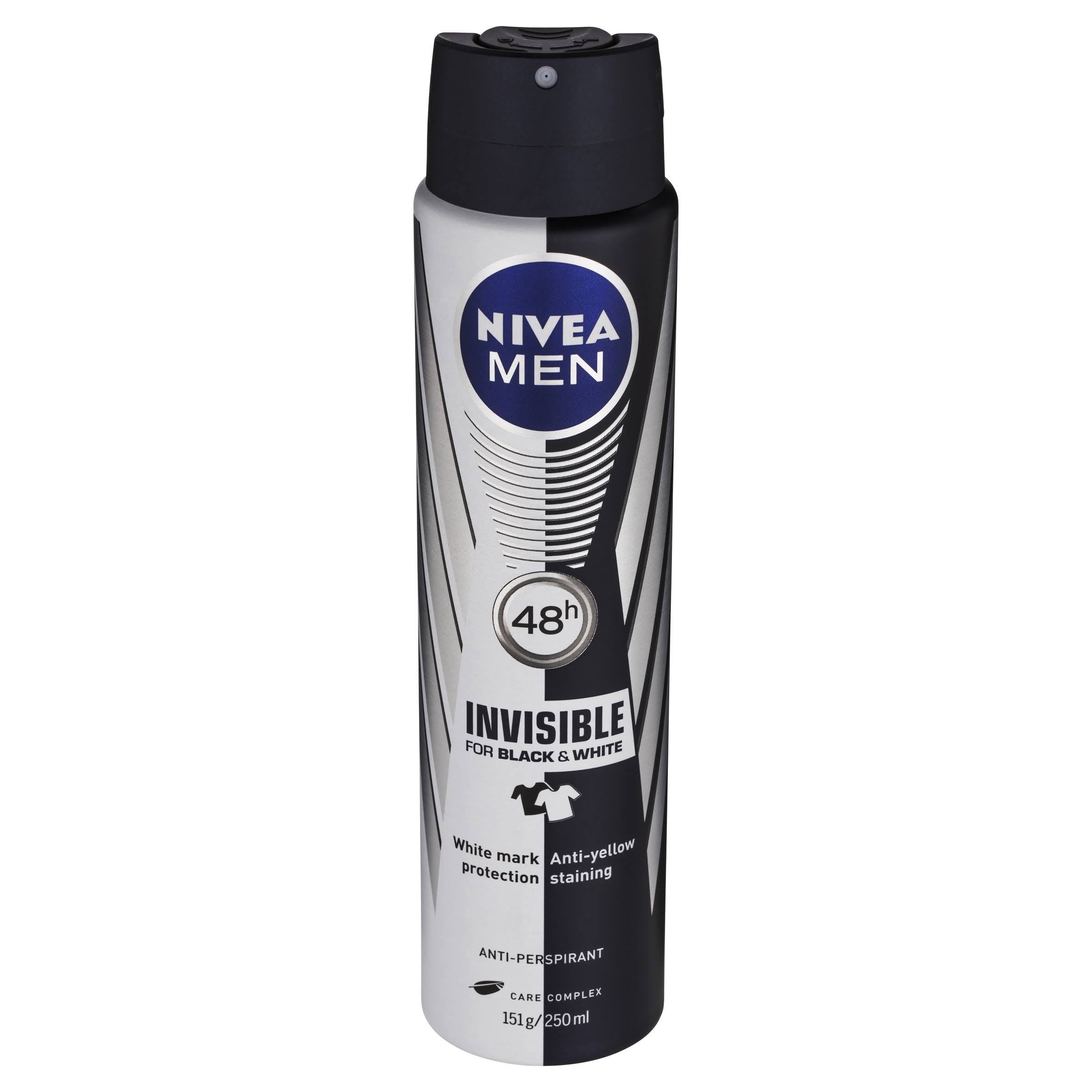 Nivea Men Black and White Original Anti-Perspirant Deodorant Spray - 250ml