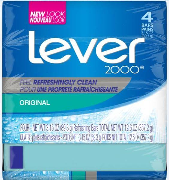 Lever 2000 Original Soap Bar - 3.15oz, 4ct
