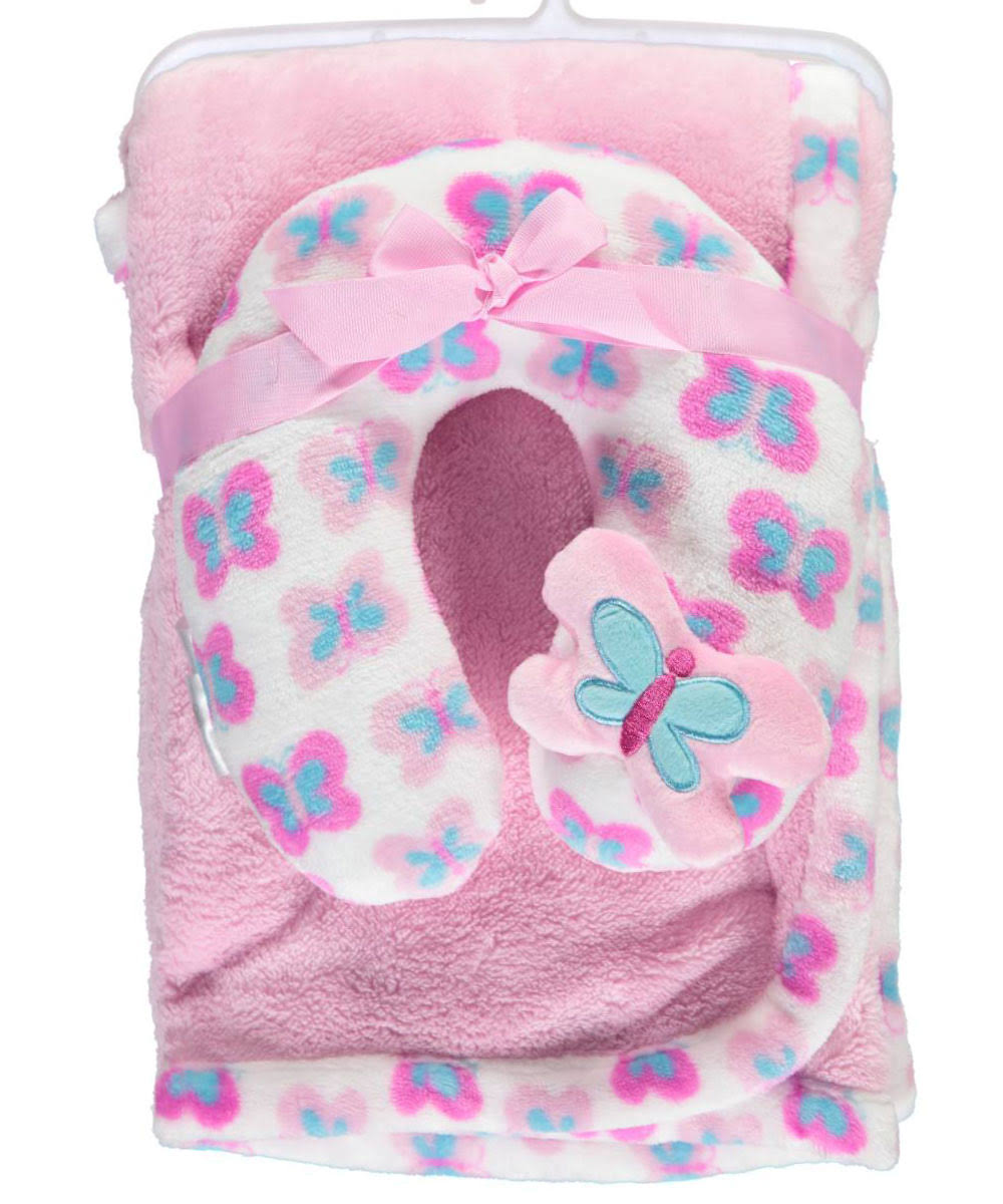 Cribmates Baby Girls Butterfly Baby Blanket Set - 2pcs