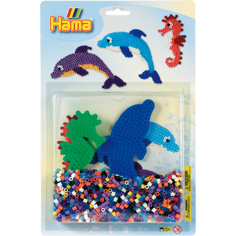 Hama Beads Dolphin and Seahorse Activity Kit