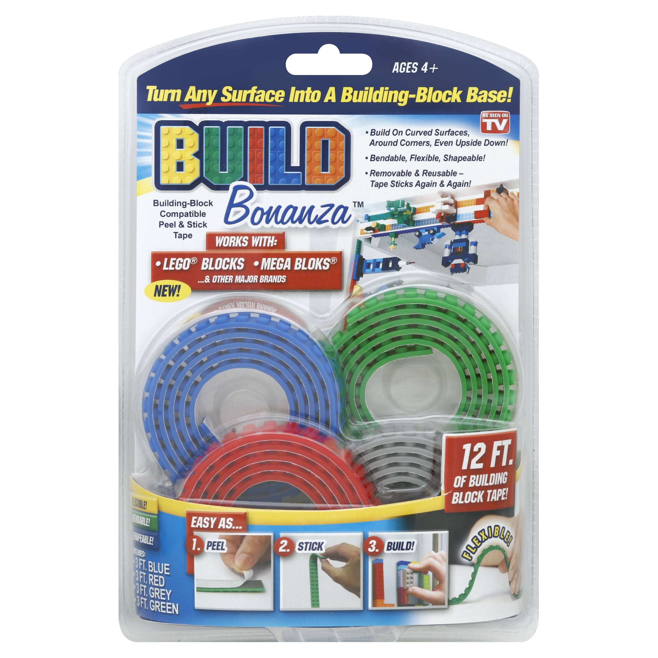 As Seen On TV Build Bonanza Building Block Tape - 4pk, Assorted
