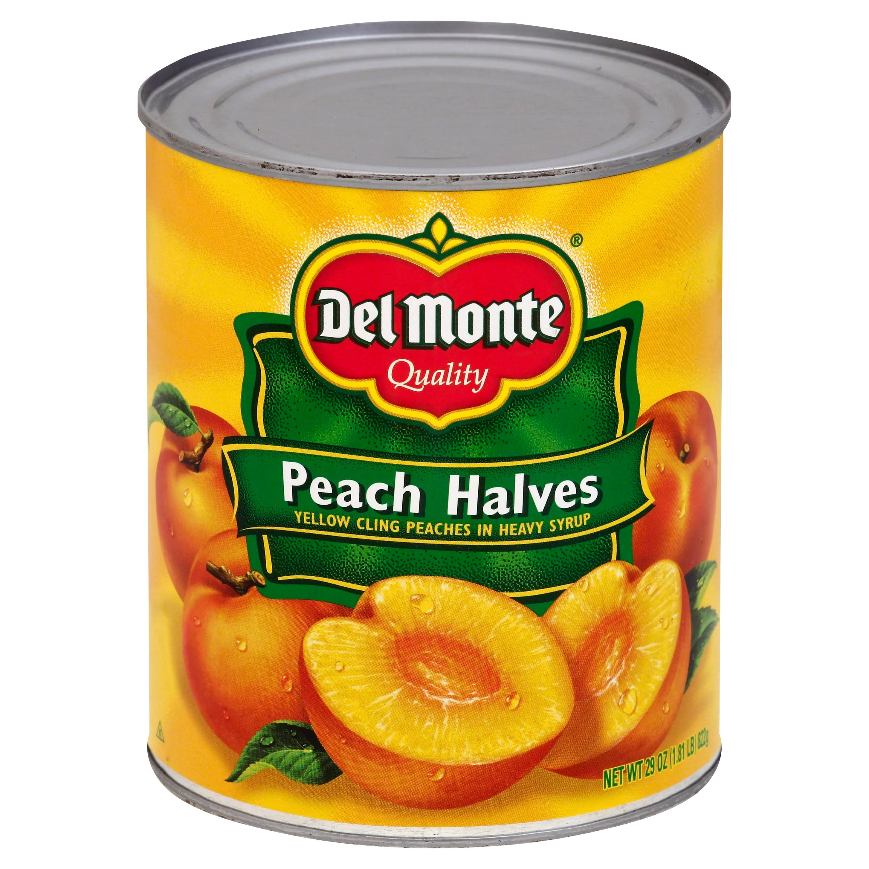 Del Monte Peach Halves Yellow Cling Peaches in Heavy Syrup
