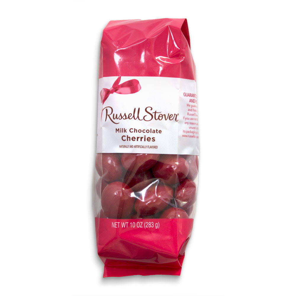 Russell Stover Milk Chocolate Red Cherries, 10 oz. Bag