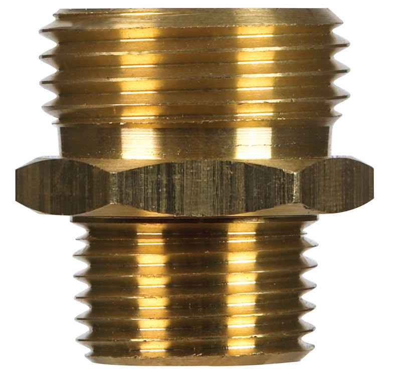 "Jmf Brass Male Hose Adapter - 1/2""x3/4"", Yellow"
