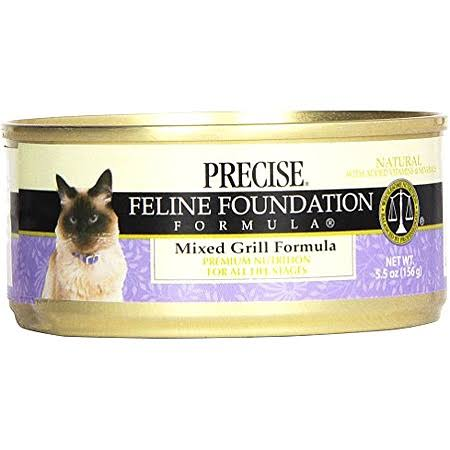 Precise Feline Foundation Formula Cat Food - Mixed Grill Formula, 5.5oz
