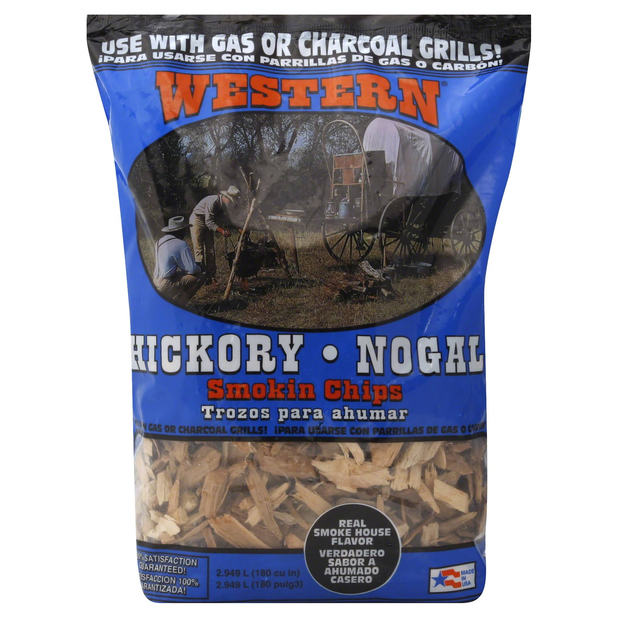 Western BBQ Smoking Chips, Hickory