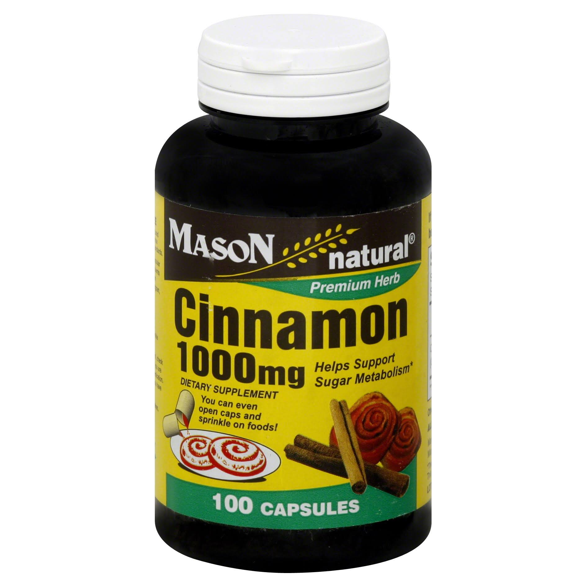 Mason Natural Premium Herb Cinnamon Supplement - 1000mg, 100ct