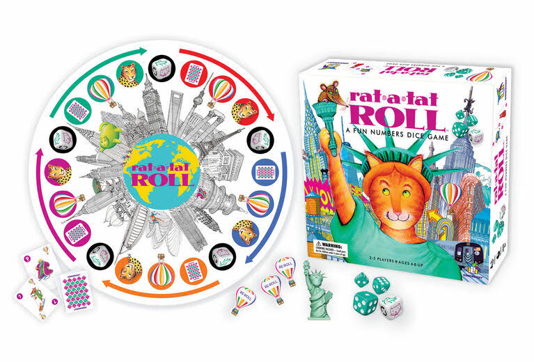 Gamewright Rat-a-tat Roll Board Games Set
