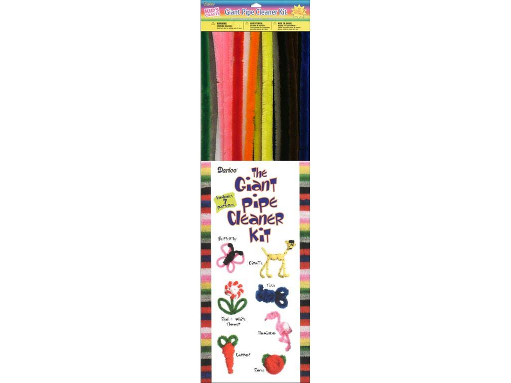 Darice Pipe Cleaner Chenille Stem 15mm Assorted 40pc