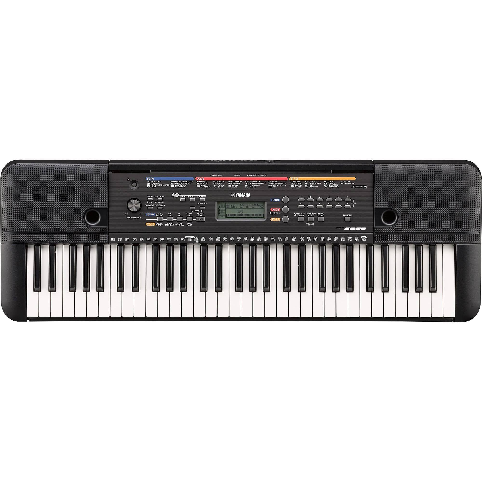 Yamaha Portable Keyboard - Black, 61 Key