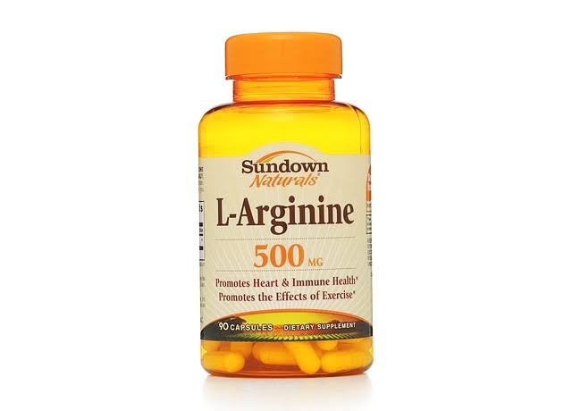 Sundown Naturals L-Arginine Dietary Supplement - 90 Capsules