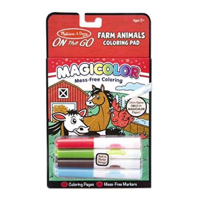 Melissa & Doug Magicolor On The Go Farm Animals Coloring Pad