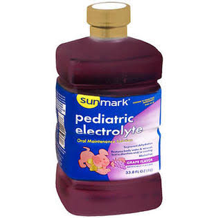 Sunmark Pediatric Electrolyte Oral Maintenance Solution - Grape, 33.8oz
