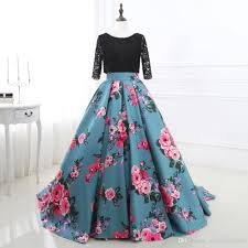 beautiful newest sweetheart printed prom dresses 2017 prom gowns