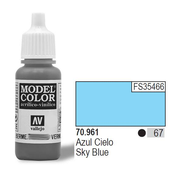 Vallejo Model Acrylic Color 70961 - Sky Blue, 17ml