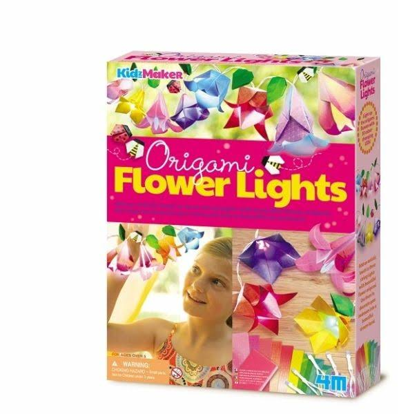 4M Kidz Maker Origami Flower Lights Craft Kit