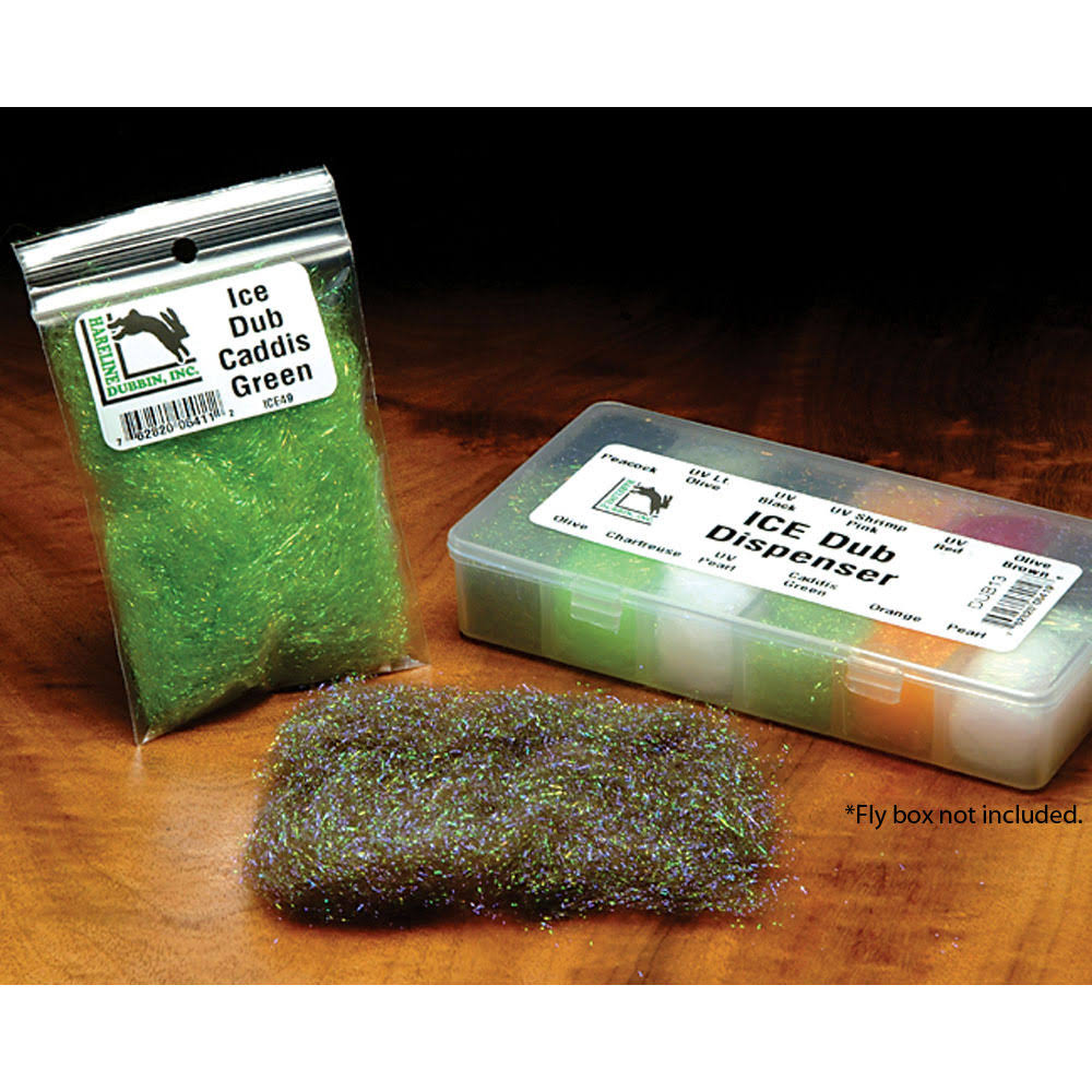 Hareline Ice Dub Fly Tying Materials - Golden Brown