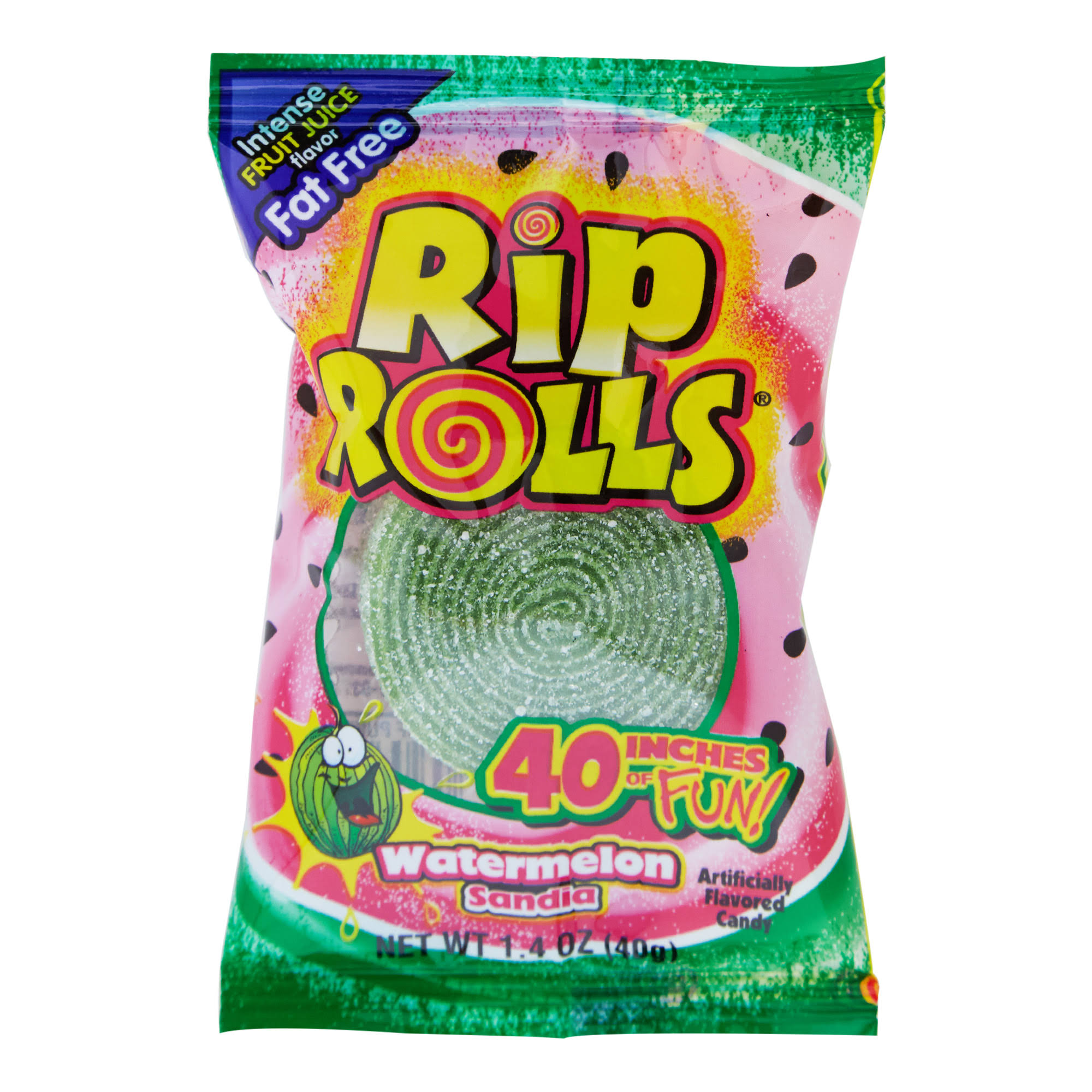 "Rip Rolls 40"" Candy, Watermelon Sandia - 1.4 oz packet"