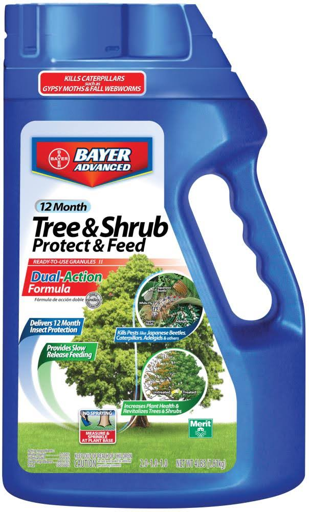 Bayer Advanced Tree and Shrub Protect and Feed Control Fertilizer Granules - 4lbs